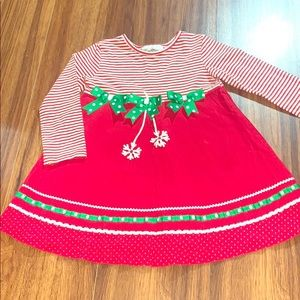 Rare Editions Christmas Dress Size 5T